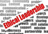 Ethical leadership word cloud