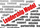 Leadership model word cloud