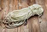 coiled anchor rope