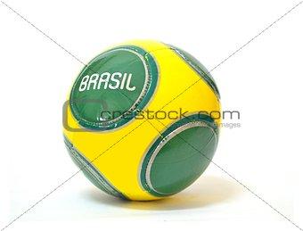 Brazilian Soccer Ball over White