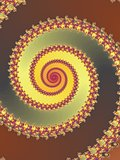 Colored fractal spiral