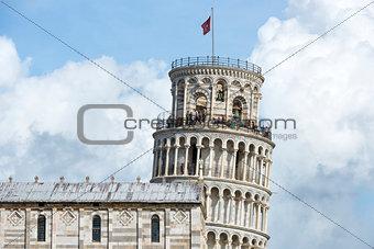 Closeup Leaning Tower Pisa