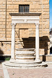 Historic fountain in Pienza