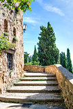 Stairs in sunny Pienza