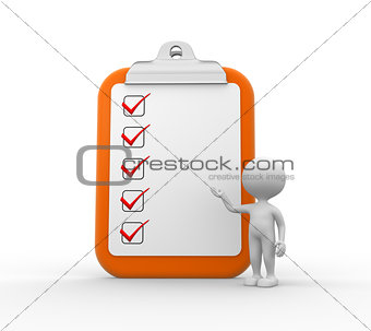 Clipboard and checklist