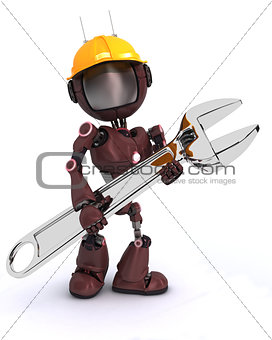android builder with a wrench