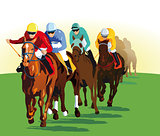 Galloping horse racing