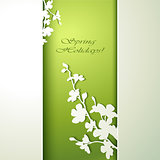 Spring flowers invitation template card.