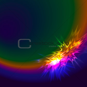 Abstract spectrum star background