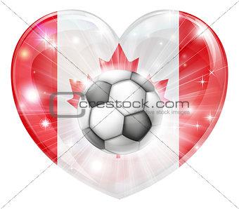 Canada soccer heart flag