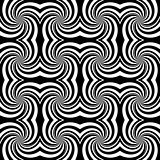 Design seamless monochrome whirl rotation pattern. Abstract deco
