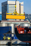 maritime activity at the Port of Genoa,Italy