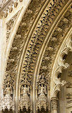 Detail. The Old cathedral in Zagreb Croatia