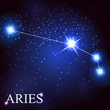 aries zodiac sign of the beautiful bright stars