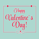 Vector St Valentine day's greeting card