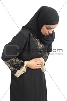 Arab saudi emirates woman with belly ache