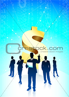 Business team background with Dollar sign