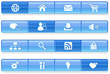 Blue Bar Internet Icons