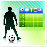 Soccer/Football Group B on Vector Background
