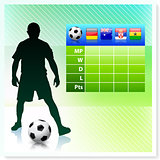 Soccer/Football Group D on Vector Background