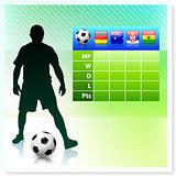 Soccer/Football Group D on Vector Background