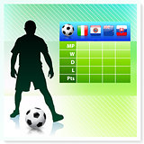 Soccer/Football Group F on Vector Background