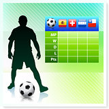 Soccer/Football Group H on Vector Background