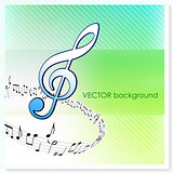 Musical Notes on Vector Background