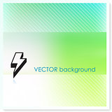 Lightening Bolt on Vector Background