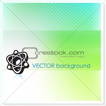 Atom on Vector Background