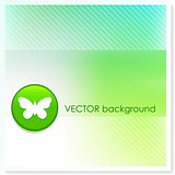 Butterfly Icon Internet Button on Vector Background