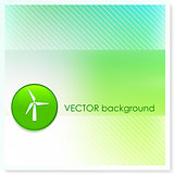 Wind Turbine Icon Internet Button on Vector Background