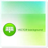 Solar Panel Icon Internet Button on Vector Background