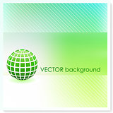 Globe on Vector Background