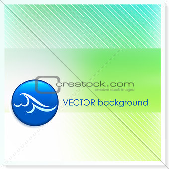 Wave Icon Internet Button on Vector Background