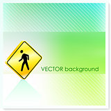 Crossing Sign on Vector Background