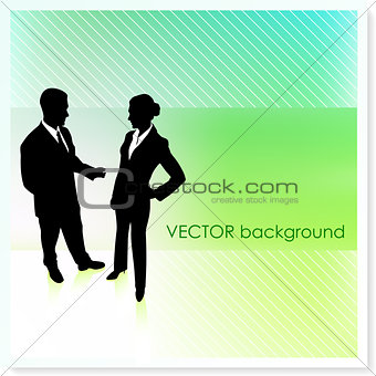Business Couple on Vector Background
