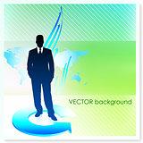 Businessman on Vector Background