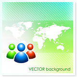 User Group on Vector Background