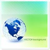 Globe on Vector Background