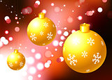 Christmas Ornament on holiday background
