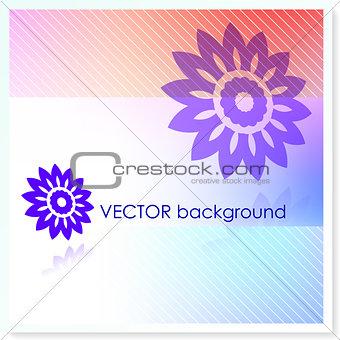 Floral Design on Vector Background