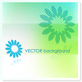 Floral Design on Vector Background