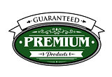 Premium guaranteed products label