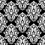 Retro black and white seamless pattern