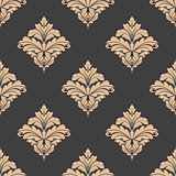 Floral damask seamless pattern