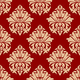 Retro damask style arabesque pattern
