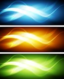 Colorful waves banners