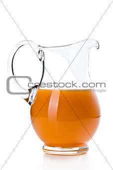 carrot juice in pitcher