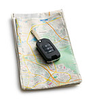 car key with map